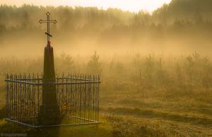 Podlasie - przydrożna kapliczka we wsi Waśki