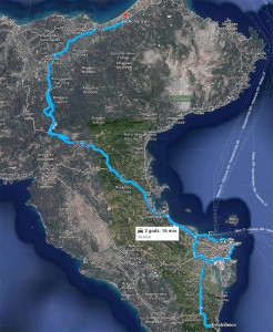 Korfu - trasa nr 3: Kerkira - Achilleion